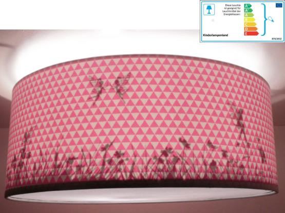 Juuldesign Deckenlampe Elfen silhouette rosa