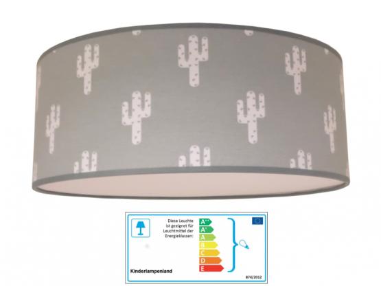 Juuldesign Deckenlampe Kaktus grau/weiss