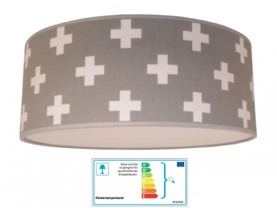 Juuldesign Deckenlampe Plus grau/weiß