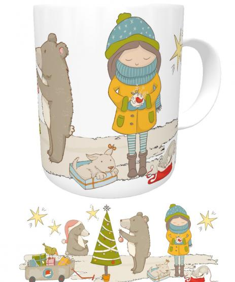 Kinder-Tasse Winter Weihnachtstasse I Kakaotasse I Kindergartentasse