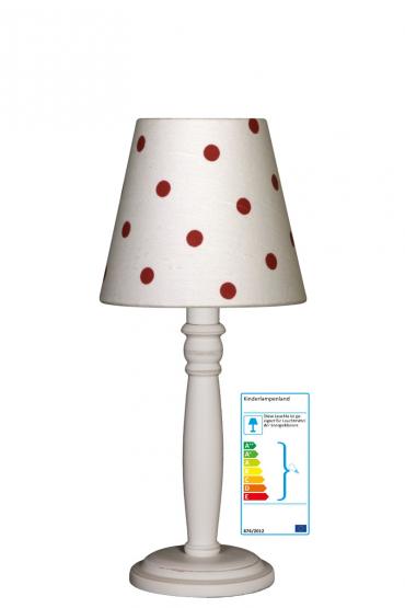 tischlampe tupfen wei rot tischlampen. Black Bedroom Furniture Sets. Home Design Ideas