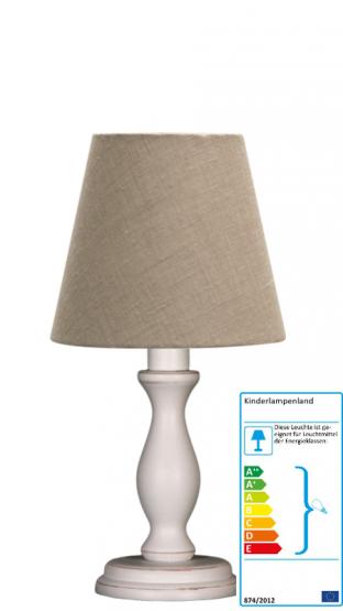 tischlampe leinen beige klein tischleuchten. Black Bedroom Furniture Sets. Home Design Ideas