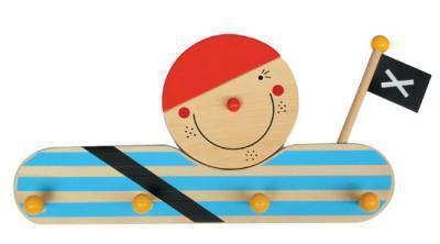 Kindergarderobe Pirat aus Holz
