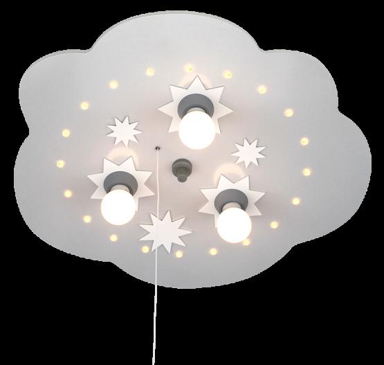elobra sternenwolke led silber 3 flg led kinderlampen. Black Bedroom Furniture Sets. Home Design Ideas