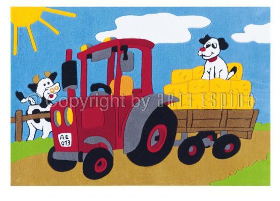 Arte Espina Kinderteppich Traktor