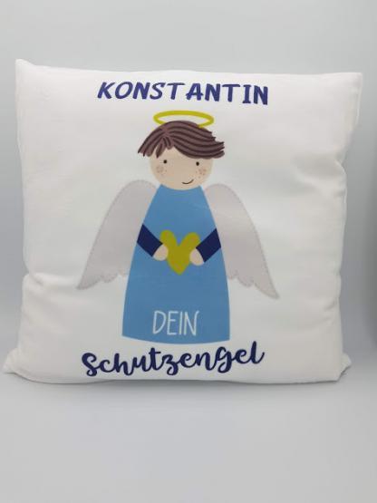 Personalisiertes Kuschelkissen Schutzengel Junge von emmapünktchen mit Wunschname