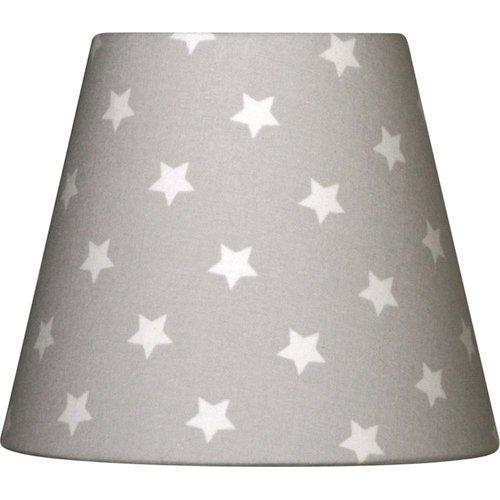 Lampenschirm Sterne grau/weiß