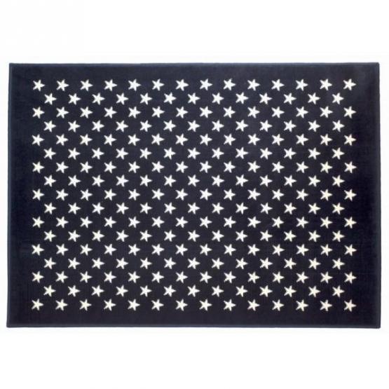 Lorena Canals Kinderteppich kleine Sterne marineblau 140 x 200 cm