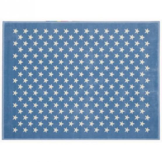 Lorena Canals Kinderteppich kleine Sterne blau 200 x 300 cm