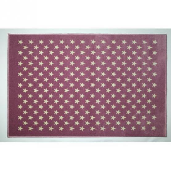 Lorena Canals Kinderteppich kleine Sterne lila 140 x 200 cm