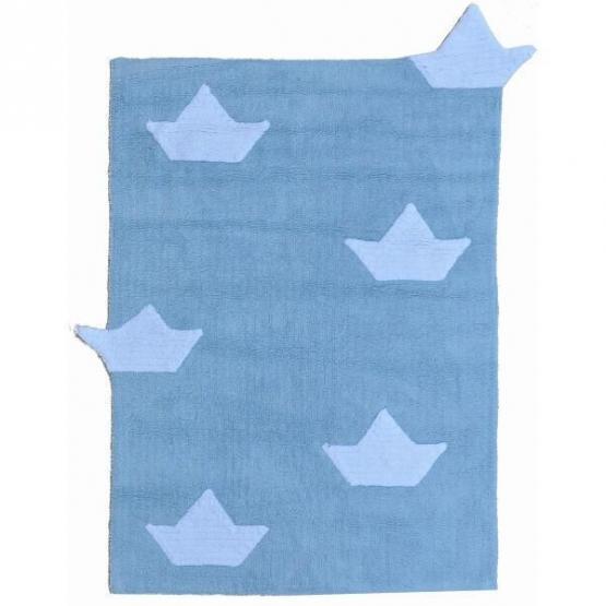 Lorena Canals Kinderteppich Boot hellblau