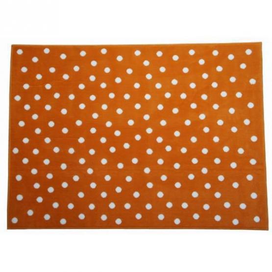 Lorena Canals Kinderteppich Pünktchen orange 200 x 300 cm