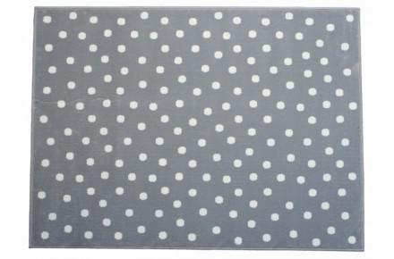 Lorena Canals Kinderteppich Pünktchen grau 200 x 300 cm