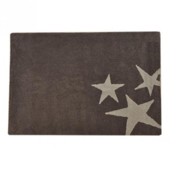 Lorena Canals Kinderteppich Drei Sterne grau