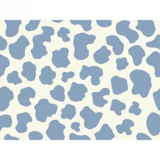 Lorena Canals Kinderteppich Kuhflecken hellblau