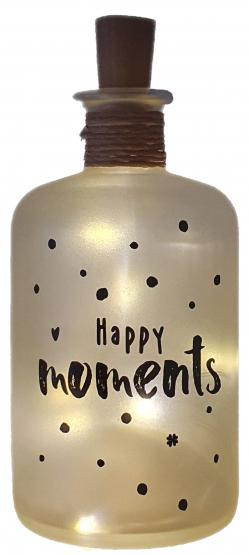 LED-Leuchtflasche Happy moments Geschenk