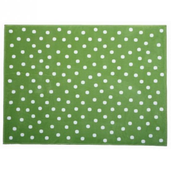 Lorena Canals Kinderteppich Pünktchen grün/weiß