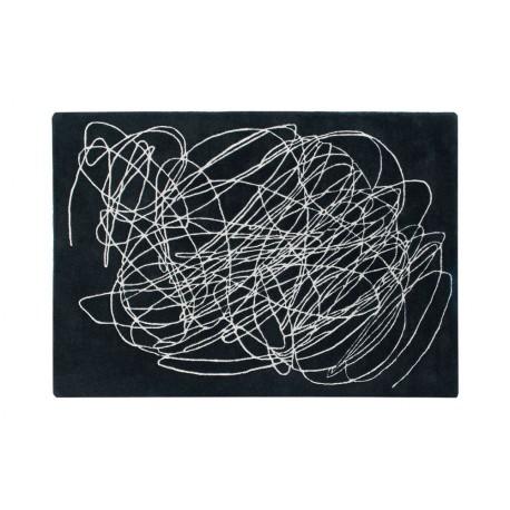 Lorena Canals Teppich Scribble schwarz/weiß