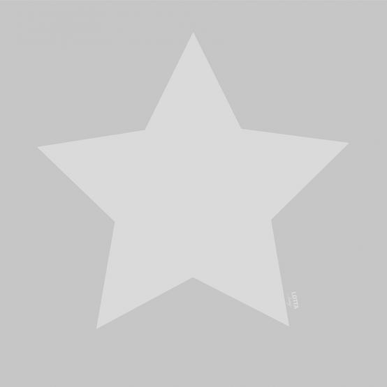 Lotta Lable Teppich Softie Stern grau 130 x 130 cm