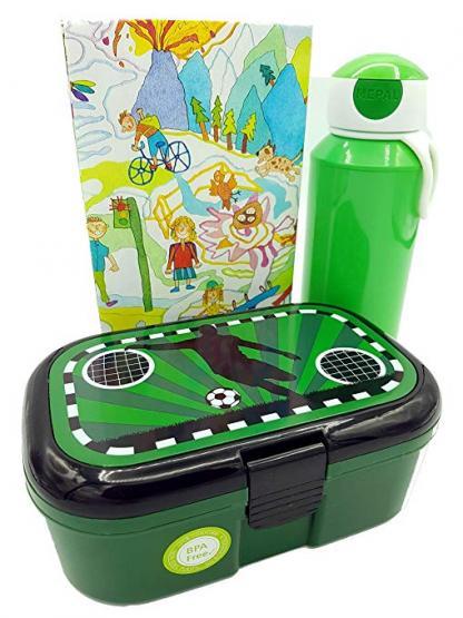 Lutz Mauder Lunchbox Fußball und Mepal Trinkflasche 400 ml grün