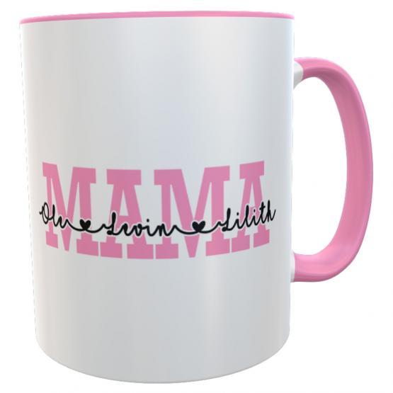 personalisierte Tasse Muttertag Mama Kinder