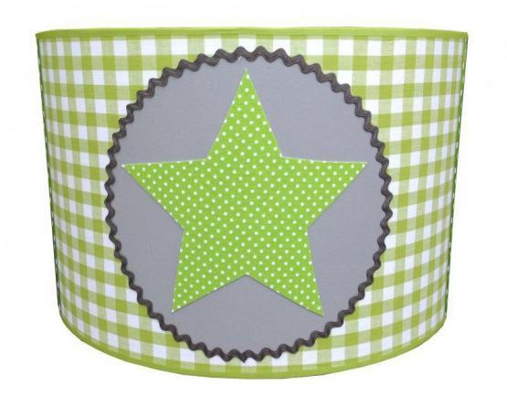 Juuldesign Pendelleuchte Stern grün/weiß