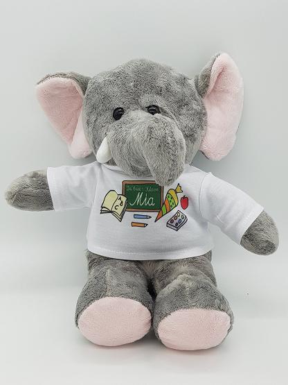 personalisierter elefant kuscheltier f r die zuckert te schult te mit wunschname. Black Bedroom Furniture Sets. Home Design Ideas