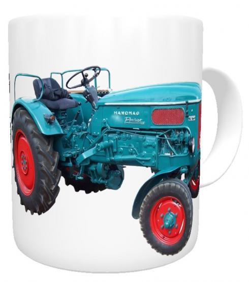 personalisierte Tasse Traktor Hanomag mit Name, Namenstasse Trecker Schlepper Traktor, Schleppertasse für kleine und große Landwirte oder Traktortasse, Schleppertasse