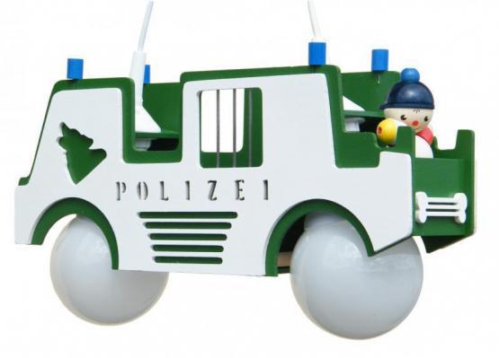 Elobra Pendelleuchte Polizeiauto grün
