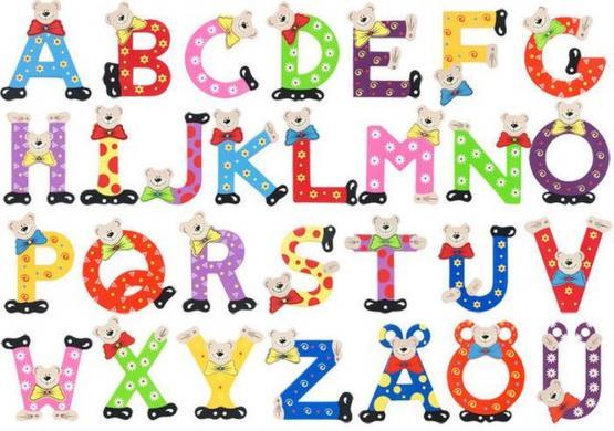 Playshoes Holzbuchstaben Bär im Set