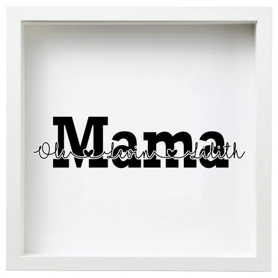 personalisierter Bilderrahmen Muttertag Mama Kinder