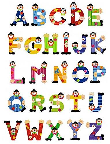 Sevi Holzbuchstaben Clown 10 Stück im Set inkl. Geschenkverpackung
