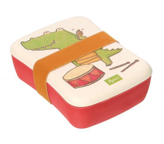 Sigikid Brotdose Bambus Krokodil Mepal Trinkflasche