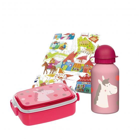 Sigikid Brotbox und Trinkflasche Pony 350ml
