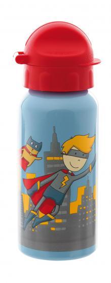Sigikid Brotdose und Trinkflasche Superheld Pille Power
