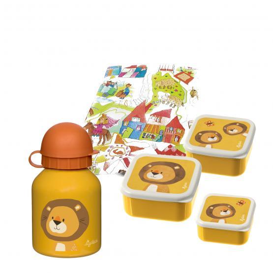 Sigikid Snackboxen und Trinkflasche Löwe