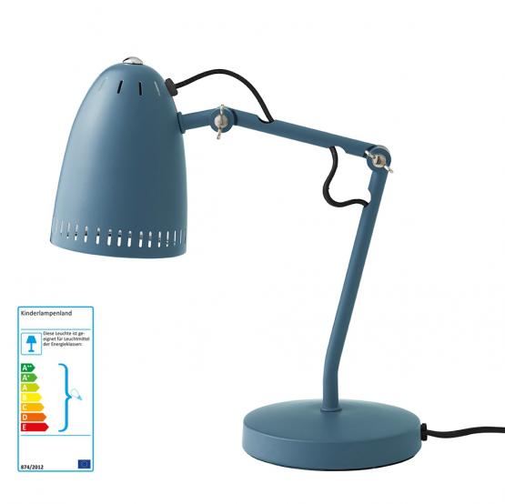 Superliving Schreibtischlampe rauchblau matt