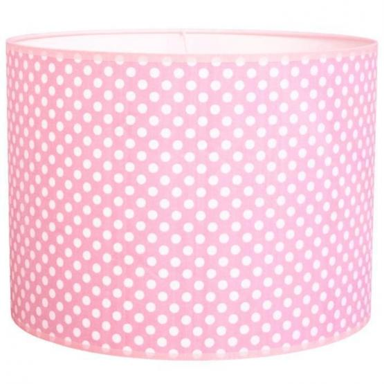 Taftan Pendellampe rosa Tupfen
