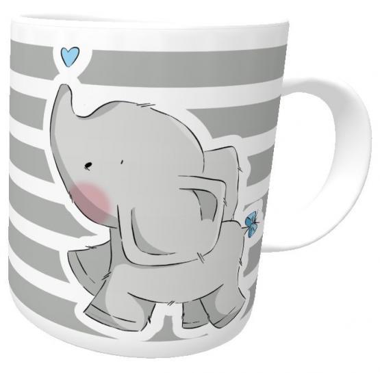 Kindertasse Elefant Eli Love emmapünktchen mit Wunschname inkl. Geschenkverpackung