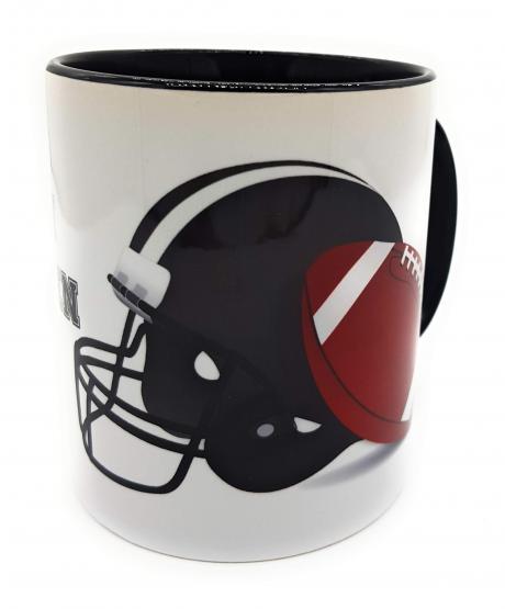 Kaffeetasse Football mit Spruch An jedem verdammten Sonntag