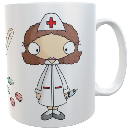 Tasse Krankenschwester mit Namen Dankeschön