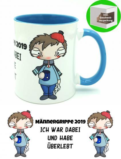 Kaffeebecher  TeeTasse Männergrippe 2019 Ich war dabei Gute Besserung