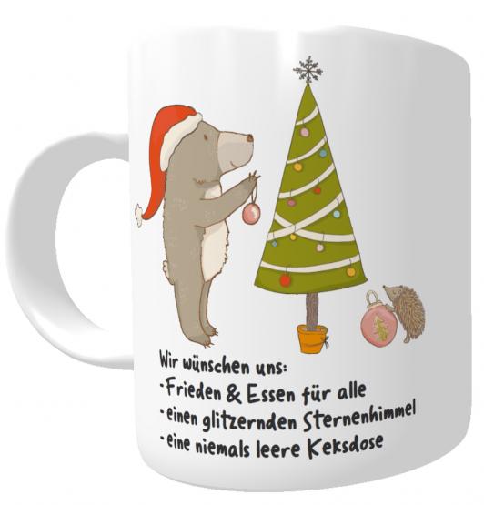Tasse Weihnachtswünsche I Weihnachtstasse I Kakaotasse I Wichtelgeschenk