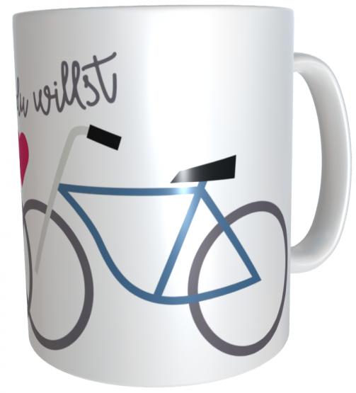 Kaffeetasse Fahrrad Geschenk Wohin du willst  inkl. Geschenkverpackung