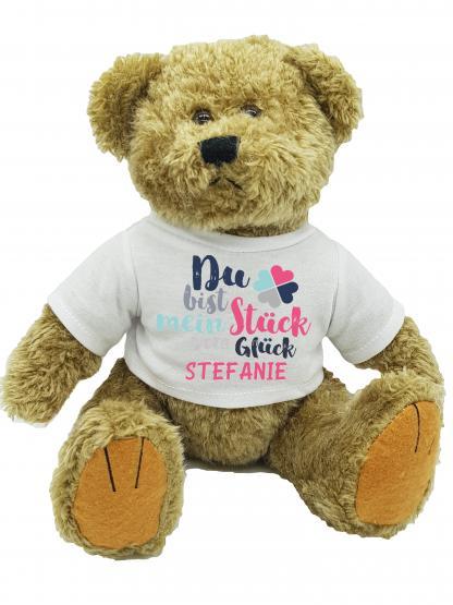 personalisierter Bär Glück mit Wunschnamen