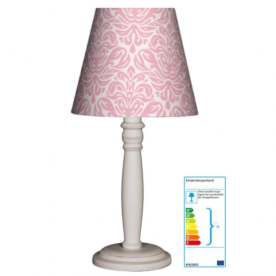 Tischlampe Ornamente  rosa