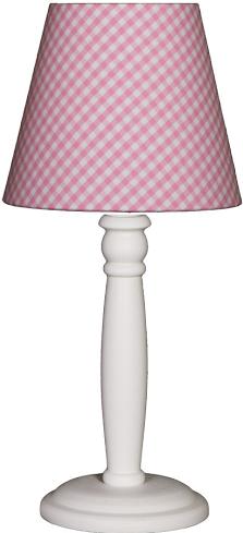 Tischlampe Karo rosa/weiß