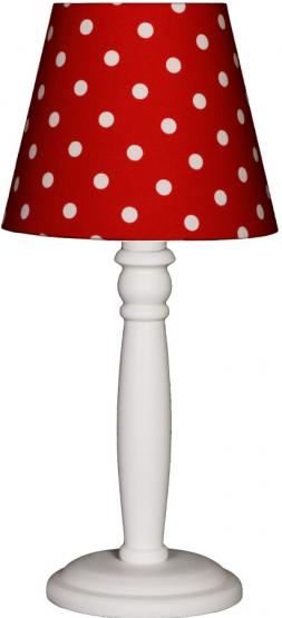 Tischlampe Tupfen rot