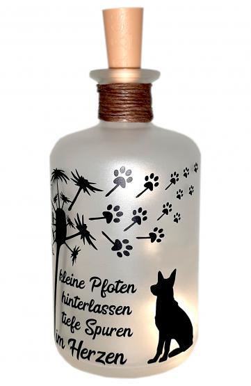 LED-Leuchtflasche Trauer Haustier Hund