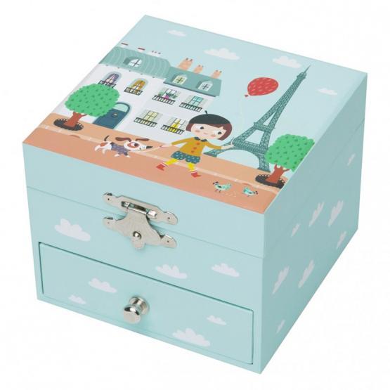 Trousselier Musikspieldose Nion Paris kleine Spieldose hellgrün
